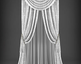 Curtain 3D model 329 low-poly