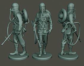 German soldier ww1 walk G5 3D print model