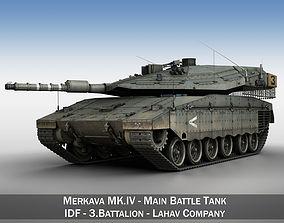 3D model Merkava IV - Lahav Company merkava