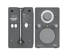 Tivoli audio PAL white and grey 3D model