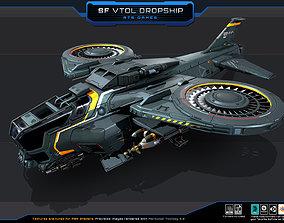 SF - VTOL Dropship 3D asset