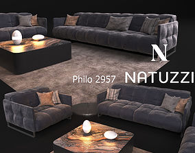 Sofa in modern style NATUZZI Philo 2957 3D model