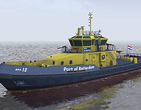 RPA12 Port of Rotterdam Authority tug 3d VR / AR ready