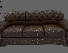 Armchair 3D model game-ready couch