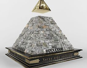 Illuminati pyramid 3D model