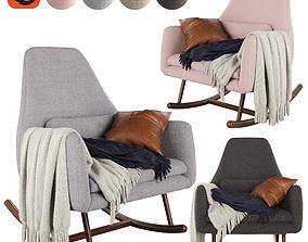 CB2 Saic Quantam rocking chair 3D