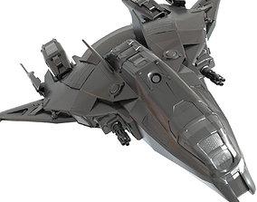 fi spaceship 3D model game-ready
