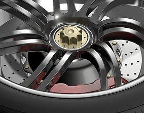 3D model Pagani Huayra wheel
