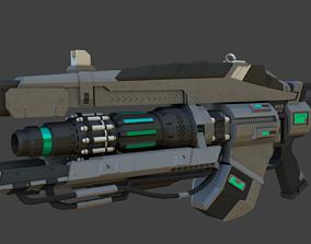 Low-Poly 3D Model Sci-Fi Link Gun realtime