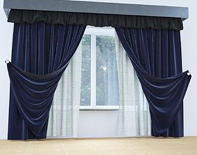 3D model Misty Velvet Curtain