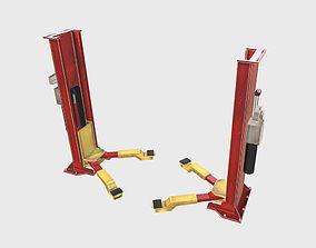 3D model Industrial Hydraulic car lift