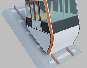 Inclined lift - funicular 3D model