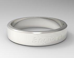 3D printable model Engineer Ring Silver