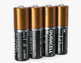 3D AA Duracell CopperTop Alkaline Four