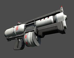 Heavy Weapons Sci-Fi Assault Rifle 3D model