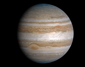 3D asset Photorealistic Accurate Jupiter System 14k