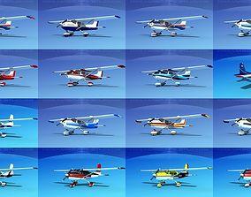 3D model Cessna 172 Skyhawk aircraft