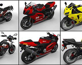 Motorbikes pack 3D asset