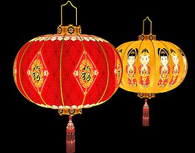 Chinese red lantern new 3D model