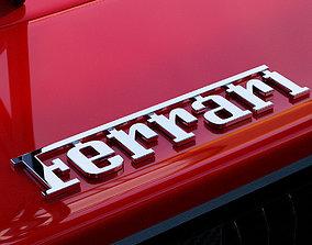 3D model Ferrari lettering