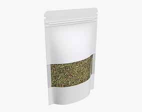 3D model Plastic food bag pouch with tea