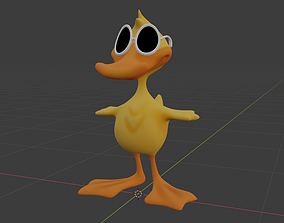 3D asset Duck Quick Quack - Low poly - Animated