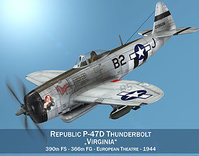 3D Republic P-47D Thunderbolt - Virginia p-47d