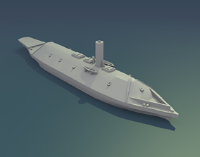 3D print model CSS Virginia 1862 armored