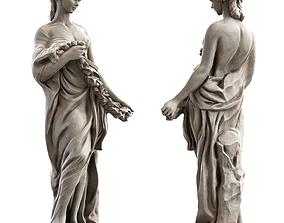 3D asset low-poly Woman Sculpture