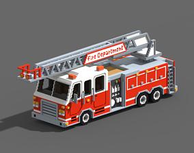 3D model Voxel Fire Truck