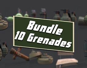 3D model GRENADE BUNDLE - 10 ASSETS Ready for Download
