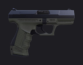 Walther P99 - High poly 3D