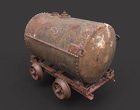 3D model Rusty Oil Tank Railcar