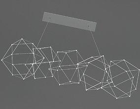 Quasar Holland Cosmos chandelier 3D