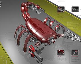 3D model low-poly Scorpio