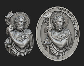 Saint John the Baptist Pendant and 3D printable model