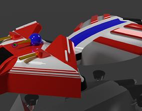 Spaceship 3D Model planet spaceship