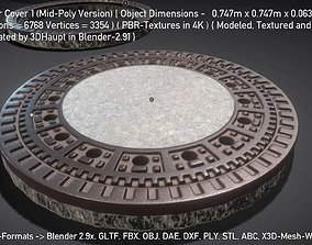 3D asset Sewer Cover 1 Mid-Poly Version