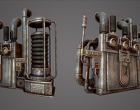 steam engine 3D model animated realtime