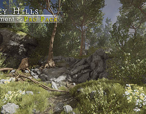 Rocky Hills Environment - Pro Pack 3D asset game-ready