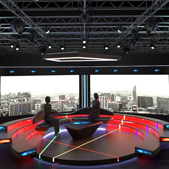 Television chat studio designs