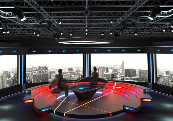 Television chat studio designs