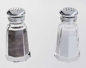3D model VR / AR ready Salt Pepper Shakers