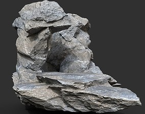 Low poly Gray Rock Formation 12 190416 3D asset