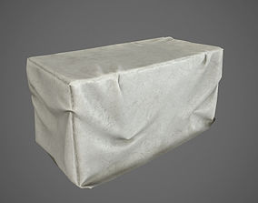 3D asset Low Poly Covered Industrial Crates PBR