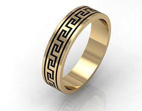 3D print model fashion greek wedding ring cnc