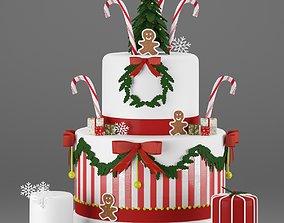 happy Christmas Cake 3D