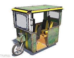 3D Old rickshaw