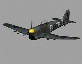 3D model Hawker Typhoon WWII RAF fighter plane