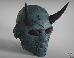 Cyber Scull Helmet 3D print model